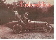 L'AUTOMOBILISTE 23 1971 DOSSIER ALFA ROMEO P3 1931 1935 JEAN CHASSAGNE