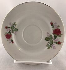 "Moss Rose Floral 6"" Saucer - Made In China"