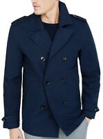 New EXPRESS Men's Navy Military Cotton Peacoat, NWT【XL】【$200】Coat Jacket *LAST*