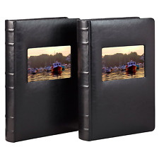 New ListingOld Town Bonded Leather Book Bound Photo Albums Archival Quality Pages 2 Pack