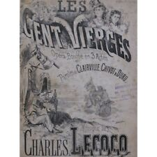 Lecocq Charles Los Cent Vírgenes Opera Canto Piano 1872 Música Sheet Music Sco