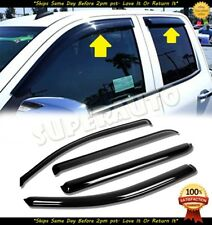 For 2014-2018 Chevrolet Silverado 1500+2500+3500 DOUBLE CAB Smoked Window Visors