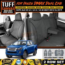 TUFF Canvas TRADE Seat Covers Isuzu D-MAX LS-U 4x4 SX 2Rows 5/2012-19 DMAX CHARC