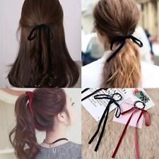 Ribbon Streamer School Hair Bow Elastic Bobbles Hair Girl Accessory