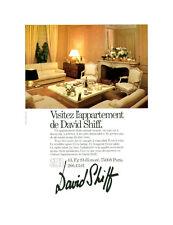 Publicité ancienne appartement de David Shiff 1980 issue de magazine