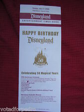 *MINT* DISNEYLAND 50th MAP GUIDE 1955 2005 Walt Disney DCA Brochure Book