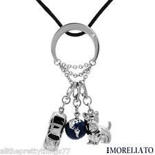 RARE!!!   NWT & Original Box MORELLATO Necklace Diamond  SCOTTY DOG Auto Car