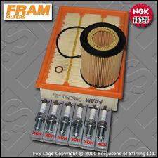 SERVICE KIT BMW X3 3.0I E83 FRAM OIL AIR FILTERS NGK SPARK PLUGS (2004-2006)