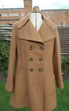 Cinnamon Coloured Double Breasted Pea Coat, 70's Style Wide Lapels, ASOS 10