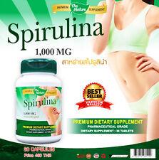 Spirulina 30 Tablets 1000mg Premium The Nature Supplement Body Slim Detox Digest