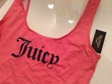 BNWT 100% Auth Juicy Couture, Ladies Azela Pink Swimsuit With Logo. XL