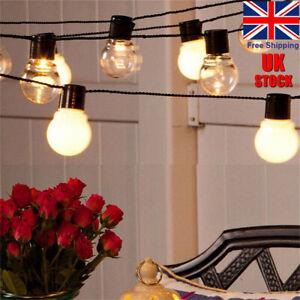 10pcs Solar String Lights Outdoor Garden LED Festoon Party Globe Ratro Bulbs