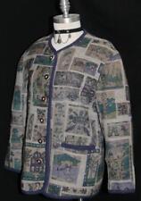 """HAMMERSCHMID BLUE BOILED WOOL Sweater JACKET Women German Winter Car B40"""" 0 M"""