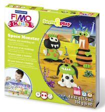 FIMO kit per i bambini costituiscono & play Polimero Argilla Modellare Forno Bake mostro spaziale