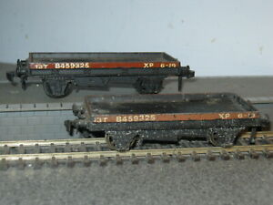2 Hornby Dublo OO Gauge BR 13 Ton Flatbed Wagons