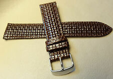 New Brown Padded Woven Braided 22mm Watch Band BEAUTIFUL Chrome Buckle $14.99