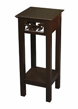 eHemco Indoor Plant Stand Decorative Table in Espresso Brown