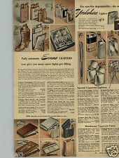 1950 PAPER AD Lighters Stewart Pencil Cigarette Camera Zippo ASR Ritepoint