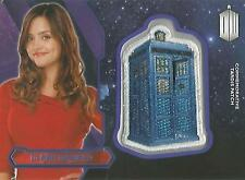 "Topps Doctor Who 2015 - ""Clara Oswald"" PURPLE Tardis Patch Card #45/99"