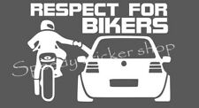 Respect for Bikers Auto Car Decoration Van Decal Jdm Cool Decal A237
