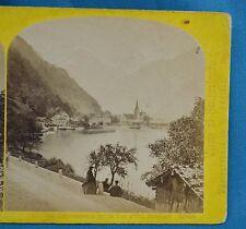 1860s Suisse Stereoview 151 Le Bristenstock Et Lac D'Uri Alpine Club W England