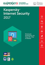 Kaspersky Internet Security 2017 2PC/1YEAR / Donwload / Full Version Key Code