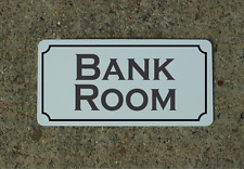 "Bank Room Metal Vintage Design Sign 6""x12"" for Casino or Game Room Decor"