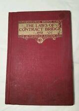 The Laws of Contract Bridge 1932 Whist Club International Bridge Laws + bonus.