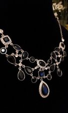 CAROLEE New York - New - Simply Jet Black Stone Clear Crystal Necklace - Ret £59