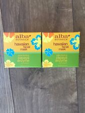 TWO!! New Alba Botanica Hawaiian Facial Mask, Pore-fecting Papaya Enzyme 3 Oz.