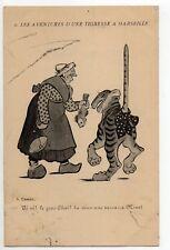Theme carte illustrateur CASSAN Une tigresse à Marseille rascasse pour grosminet