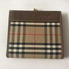 Authentic Vintage 1990's BURBERRY Coin Purse Wallet Nova Check Superb Condition