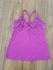 LULULEMON Pure Balance Ruched Racerback Tank Top Heathered Dewberry WOMENS SZ 10