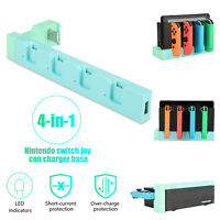 4 in 1 Charging Dock Station LED Controller Charger for Nintendo Switch Joy-Con