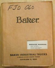 forklift manuals \u0026 books for baker ebay