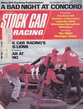 DECEMBER 1974 STOCK CAR RACING MAGAZINE  CALE YARBOROUGH ON THE COVER