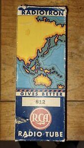 "(1) Vintage NOS RCA Radiotron ""812"" Radio Tube in Box...Look"
