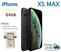 IPHONE XS MAX 64GB NEGRO REACONDICIONADO LIBRE / GRADO A+ / CAJA Y ACCESORIOS