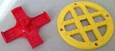 #4874 #4875 Lego Fabuland Bausteine Spezialteile Karussell Teile Rot und Gelb