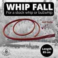 "Red Hide Redhide Whip Falls Cracker Single For Stock or Bullwhip 85cm 33"" New"