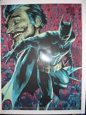 2015 SDCC BATMAN & JOKER ART PRINT SIGNED BY BRANDON PETERSON 18X24  #'D  1/100