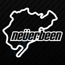 NEVERBEEN NURBURGRING Car Window Bumper 4x4 JDM EURO VW DUB Vinyl Decal Sticker