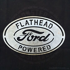 Flathead Powered Ford Metal Wall Art Sign