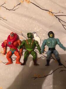 He Man Vintage 1980s Action Figure Bundle. Skeletor,  Beast Man and Kobra Khan