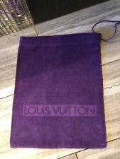 Rare LOUIS VUITTON Terry Cloth Tote Bag/ Accessory Bag/ Travel PURPLE