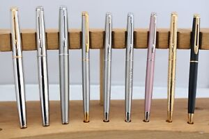 Vintage Waterman Hemisphere Fountain & Ballpoint Pens, 9 Items, UK Seller