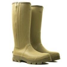 Jack Pyke Ashcombe Zipped Wellington Boots Mens YKK Neoprene Lining Light Olive