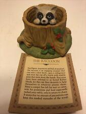 Franklin Mint Porcelain 1984 Woodland Surprises Raccoon Vintage~Jacqueline Smith