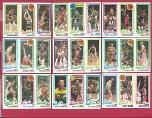 1980 Topps Basketball - 54 Card Lot - Gervin - Parish - 1980 Topps Basketball