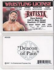 WF Wrestling License DAVE BATISTA wwf Drivers License FAKE ID driver's card wcw